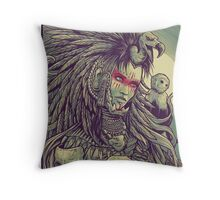 Vulture Queen Throw Pillow