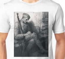 Soldier writing letter - Władysław T. Benda - 1919 Unisex T-Shirt