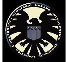 Distressed Classic S.H.I.E.L.D. Logo Photographic Print