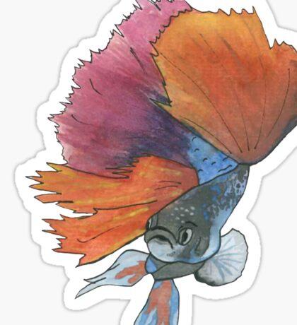 Siamese fighting fish Sticker