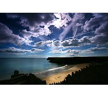 Barafundle - September Cloudscape. Photographic Print
