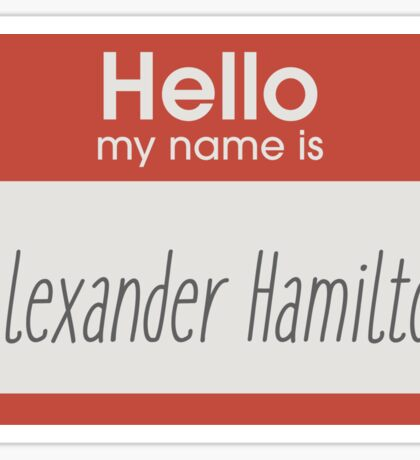 Hello, my name is Sticker