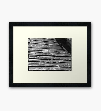 Weathered Wall With Cracks Framed Print