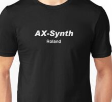 Ax synth roland white Unisex T-Shirt