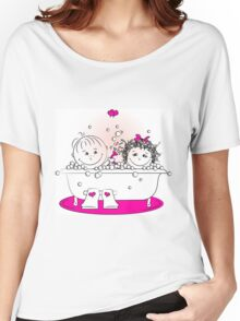 couple in love bathing in the bathroom Women's Relaxed Fit T-Shirt