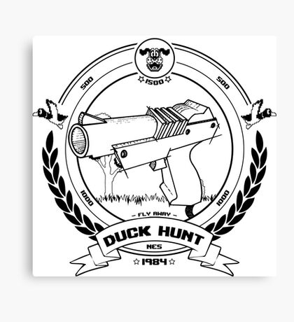 Duck Hunt - Black - Canvas Print