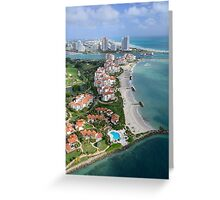 Miami: Fisher Island Greeting Card