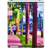 Street Painting of the Bus Coming iPad Case/Skin