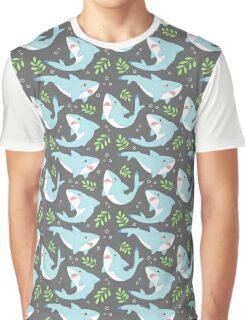 doofy shark pattern- natural Graphic T-Shirt