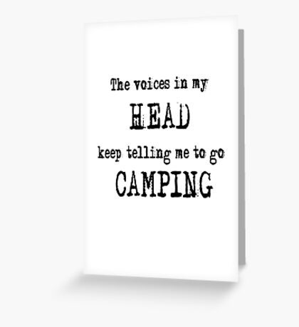 Camping humour Greeting Card