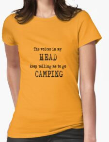 Camping humour Womens Fitted T-Shirt