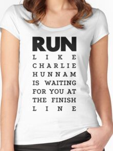 RUN -  Charlie Hunnam  Women's Fitted Scoop T-Shirt