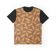 Autumn Leaves on Mustard Graphic T-Shirt