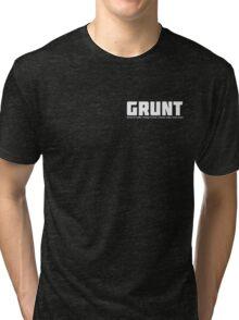 GRUNT for gay, bi and queer trans men Tri-blend T-Shirt
