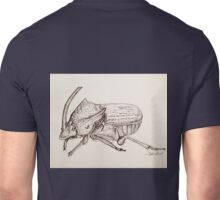 Rainbow Scarab Beetle in Black and White Unisex T-Shirt