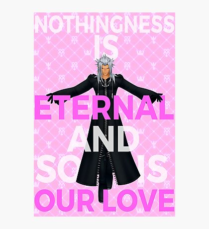 Kingdom Hearts - Xemnas Eternal Love Photographic Print