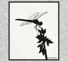 Dragonfly Silhouette  One Piece - Long Sleeve