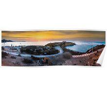 Sunrise over La Illeta from L'Almadrava panorama Poster