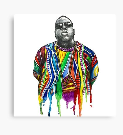 Biggie Smalls Watercolour  Canvas Print