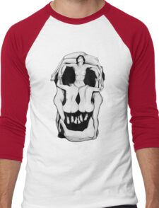 Salvador Dalí's Skulls - BLACK Men's Baseball ¾ T-Shirt