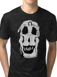 Salvador Dalí's Skulls - BLACK Tri-blend T-Shirt