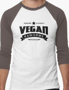 Vegan Rawsome Power Men's Baseball ¾ T-Shirt
