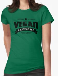Vegan Rawsome Power Womens Fitted T-Shirt