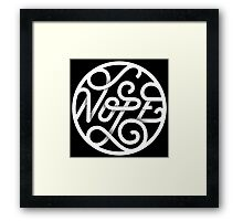 Nope - Typographic Art Framed Print
