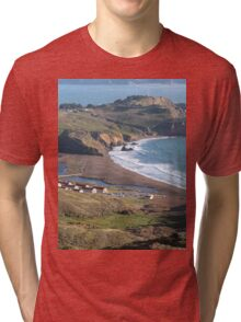 Fort Cronkhite and the San Francisco Bay. Tri-blend T-Shirt