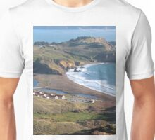 Fort Cronkhite and the San Francisco Bay. Unisex T-Shirt