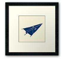 Paper Airplane 11 Framed Print