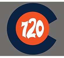 Hand Drawn Colorado Flag 720 Area Code Broncos Photographic Print