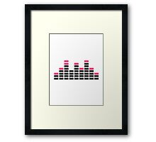 Equalizer mixing console Framed Print