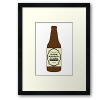Comic Fanboy Tears Bitter Beer - Bottle Framed Print