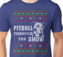 Pitbull through the snow Unisex T-Shirt