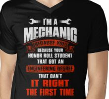 REASON I BECOME A MECHANIC Mens V-Neck T-Shirt