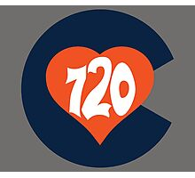 Hand Drawn Colorado Heart Flag 720 Area Code Broncos Photographic Print