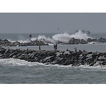 Rough Seas to Block Island Photographic Print