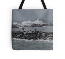 Rough Seas to Block Island Tote Bag
