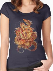 Red Curls  Women's Fitted Scoop T-Shirt