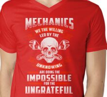 MECHANICS THE WILLING LED BY THE UNKNOWING Mens V-Neck T-Shirt
