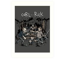 Carl and Rick Art Print