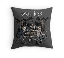 Carl and Rick Throw Pillow