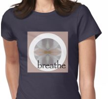 Buddha Sitting on Lotus Flower at Lake Breathe Design Womens Fitted T-Shirt