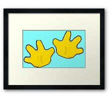 Hands Across the Water Framed Print