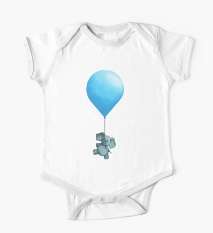 Blue Balloon One Piece - Short Sleeve