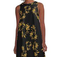 20160917 yellow on black no. 3 A-Line Dress