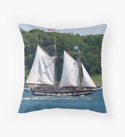 Tall Ship Sailing Past Newport, RI Throw Pillow