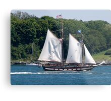 Tall Ship Sailing Past Newport, RI Metal Print