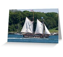Tall Ship Sailing Past Newport, RI Greeting Card